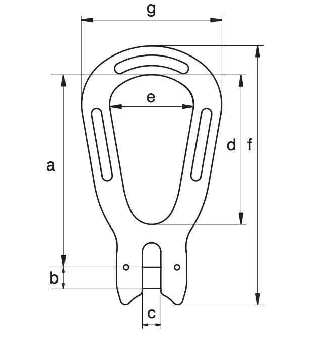 pear2 - Evo2自动吊钩的顶部吊环