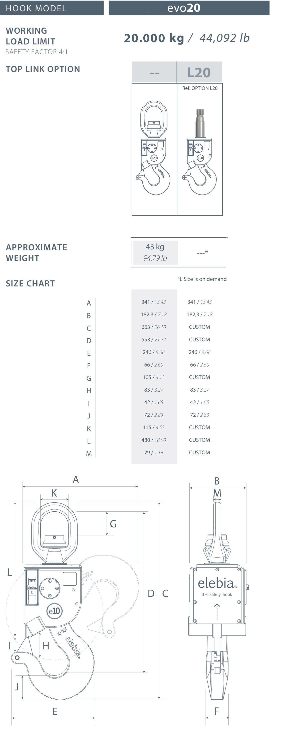 evo20 automatic hook specs - 自动吊钩的未来