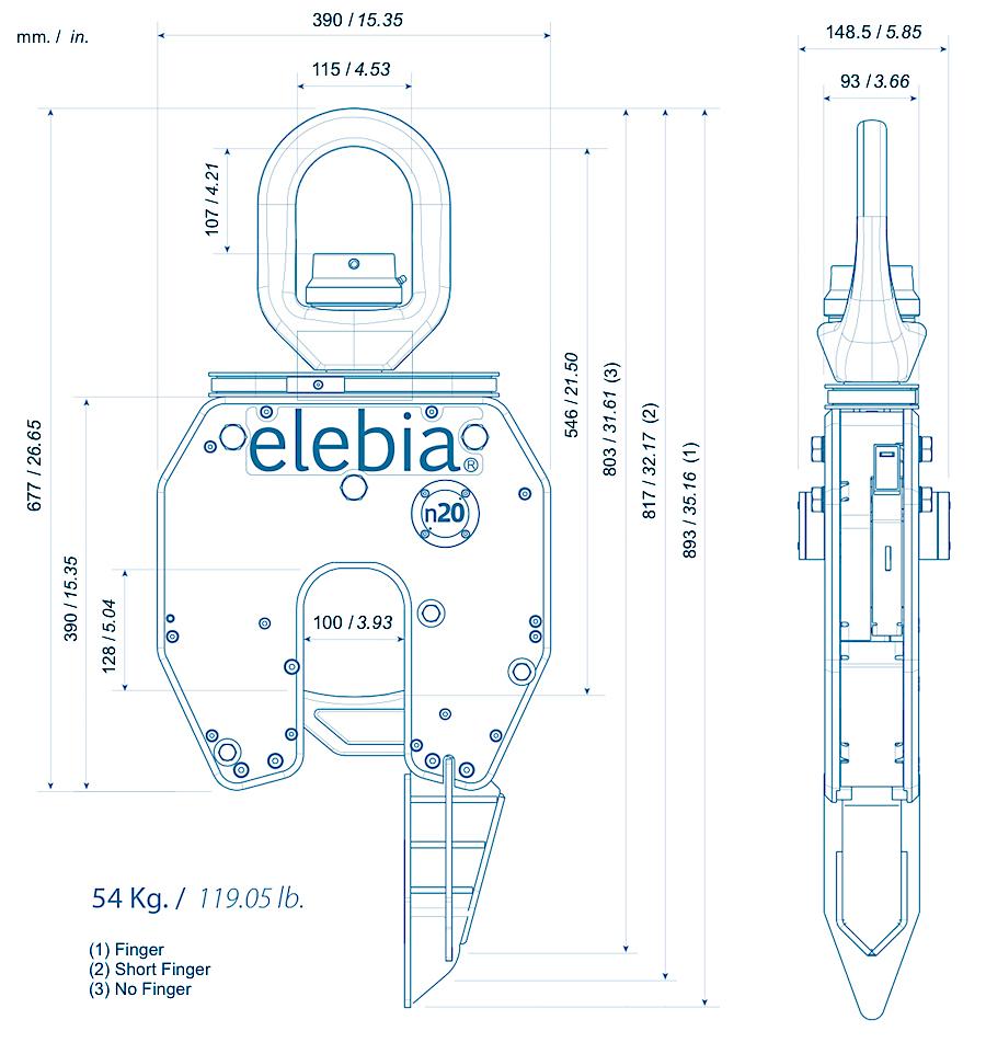 cotes NEO20 - NEO20,钟形炉的自动吊钩