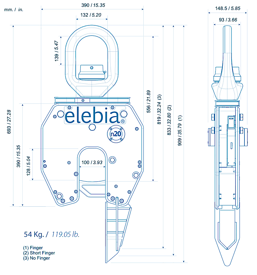 neo20 b25 lc - NEO20,钟形炉的自动吊钩